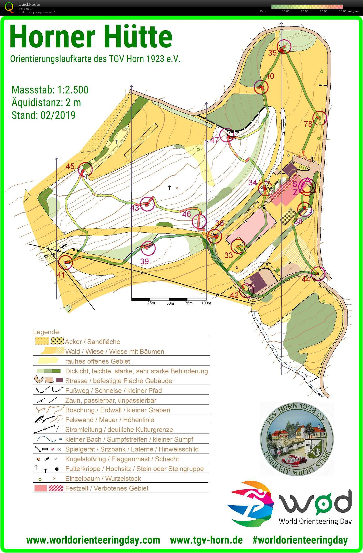 World Orienteering Day - set controlls (18/05/2019)