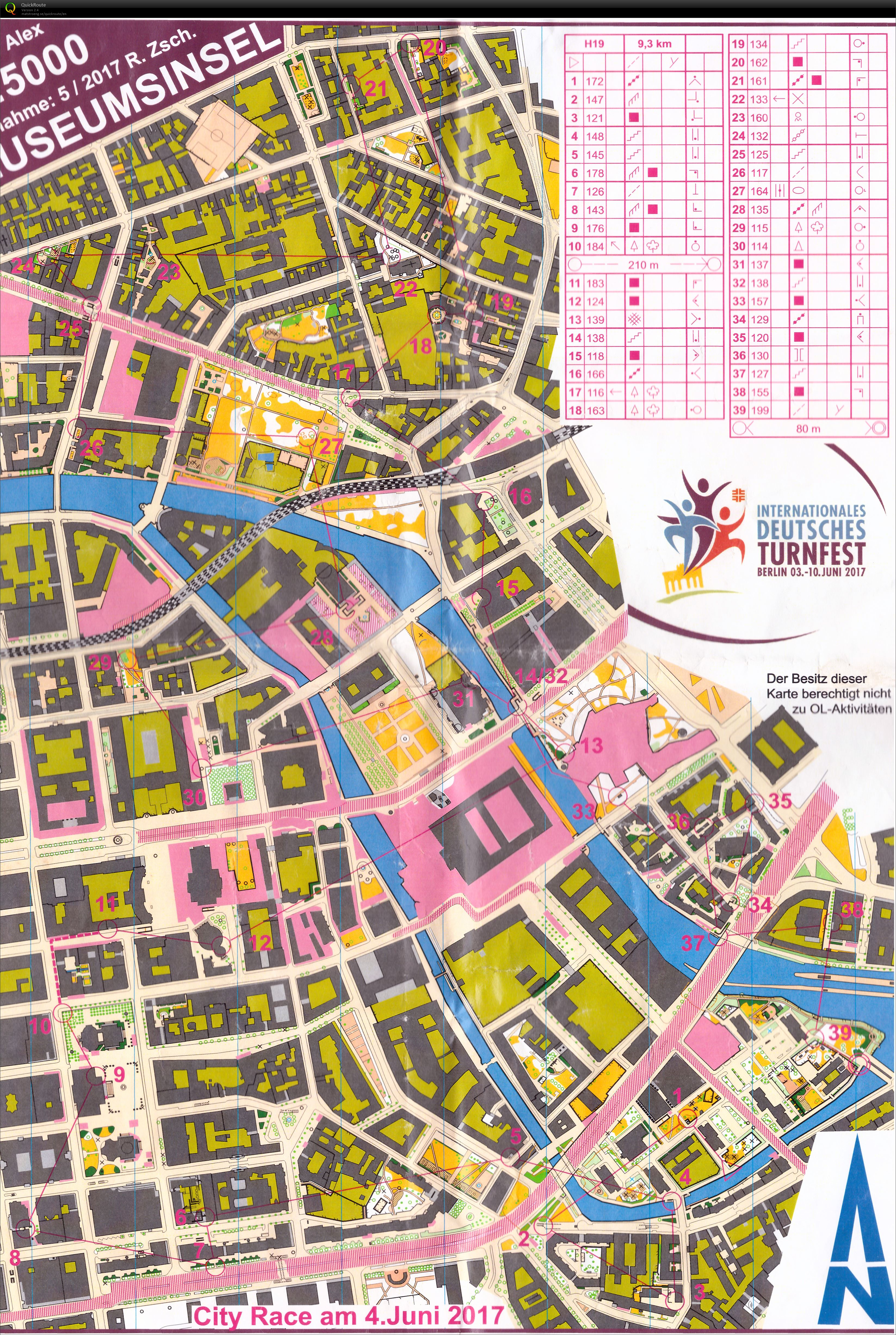 Days Berlin Cityrace June Th Orienteering Map From - Berlin map 2017